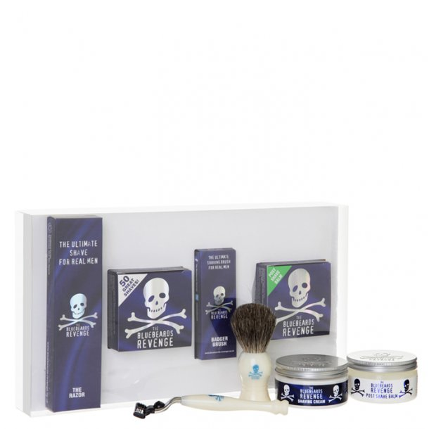 Bluebeards Revenge Mach 3 Pure Badger Kit barbersæt