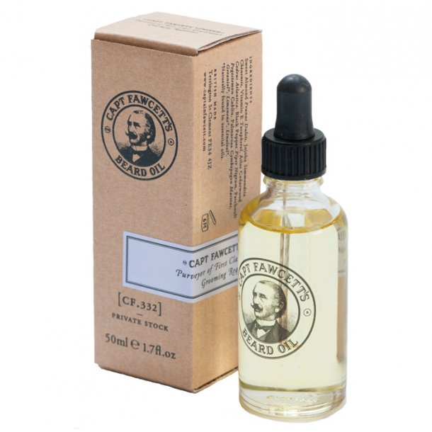 Captain Fawcett Private Stock Beard Oil skægolie 50ml
