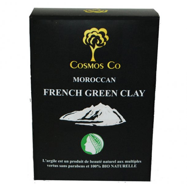 Cosmos Co Moroccan French Green Clay grøn ler 200g