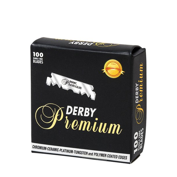 Derby Premium Single barberblade, 100 stk