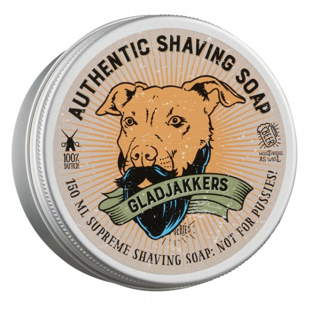 Gladjakkers Authentic Shaving Soap 150ml
