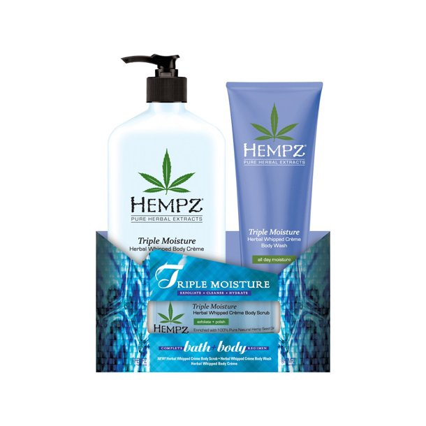 Hempz Triple Moisture Herbal Whipped Bath & Body TRIO