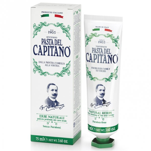 Pasta del Capitano tandpasta Natural Herbs 75ml