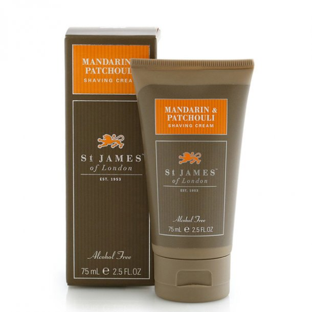 St. James of London Mandarin & Patchouli Shaving Cream TRAVEL 75ml